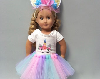 1374a3a3b77e 18 inch doll clothes/Unicorn Tutu set/for American Girl /My Life/Our  Generation/