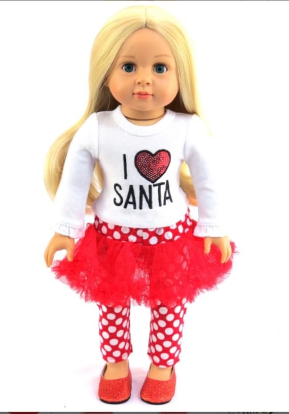 Shirt 18 in Doll Clothes Fit American Girl Christmas Reindeer T
