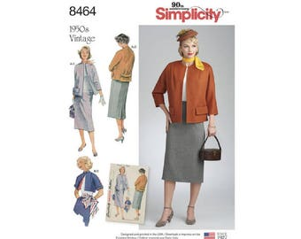 Simplicity 8464 (D0740) - Vintage Skirt and Lined Jacket in Two Lengths