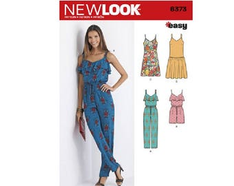 New Look 6373 - Jumpsuit or Romper and Dresses