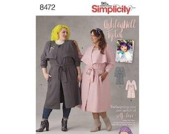 Simplicity 8472 (D0753) - Ashley Nell Tipton Women's Coats
