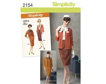 Simplicity 2154 - Misses' & Miss Petite 1960s Vintage Suit