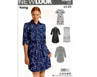 New Look D0616 (6449) - Shirt Dress with Variations