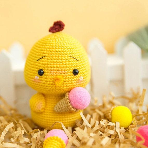 Fat Chicken Crochet Pattern Handmade Easter Chick Amigurumi Etsy