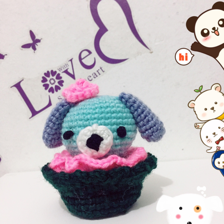 Dog Cupcake Crochet Pattern Puppy Amigurumi Pdf Cupcake Dog Etsy