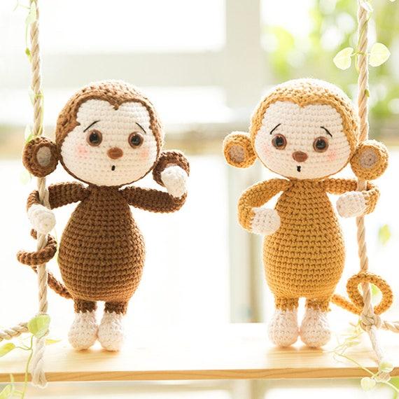 Monkey Crochet Pattern Handmade Amigurumi Pattern Tutorial Etsy