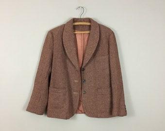70's Rust Tweed Blazer