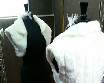 Shrug / Faux Fur / Bridal Bolero / Winter Wedding / Bridal Wrap / Fur Wrap / Fur Shrug / Fur Bolero