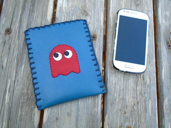 Ghost cas - appareil photo pochette - portefeuille en cuir Vegan - Gamer cadeau - cadeau de Noël - Hallowen cas - 80 s amoureux - Arcade - détenteur d'un passeport