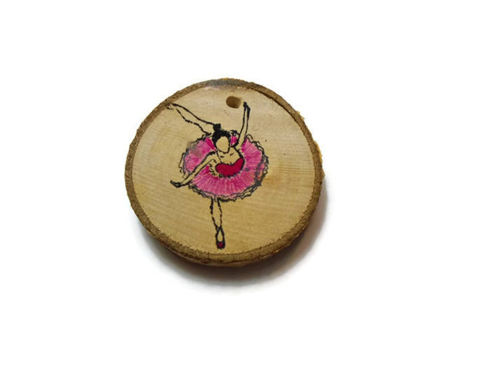 ballet dancer keychain - ballerina gift - wooden ballet dancer - ballet love - dancer gift - ballet shoes - ballet slippers - po