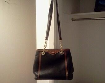 0ec24eaaca10 leather shoulder bag bucket shoulder bag Bally vintage shoulder bag double  strapped bucket bag