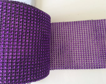 Sew or glue acrylic rhinestones Ribbon