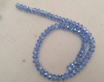 Crystal bead has facet 8 mm for creation