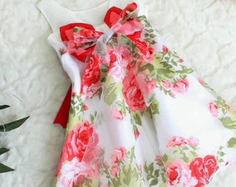 Dress for 2 year old daughter has 4t year floral with organza tulle