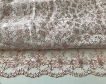 Tablecloth pink powder 160 * 220 cm