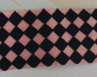 Black 6 cm wide Pink Ribbon sewing
