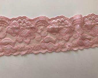 Powder Pink lace