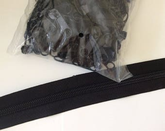 Zipper black meter 3 centimeters wide