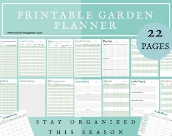 garden planner etsy