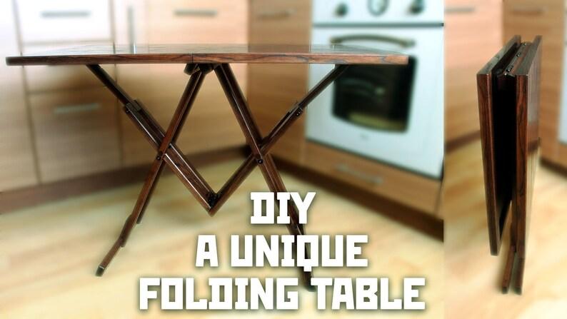 A unique folding table DIY blueprints image 0