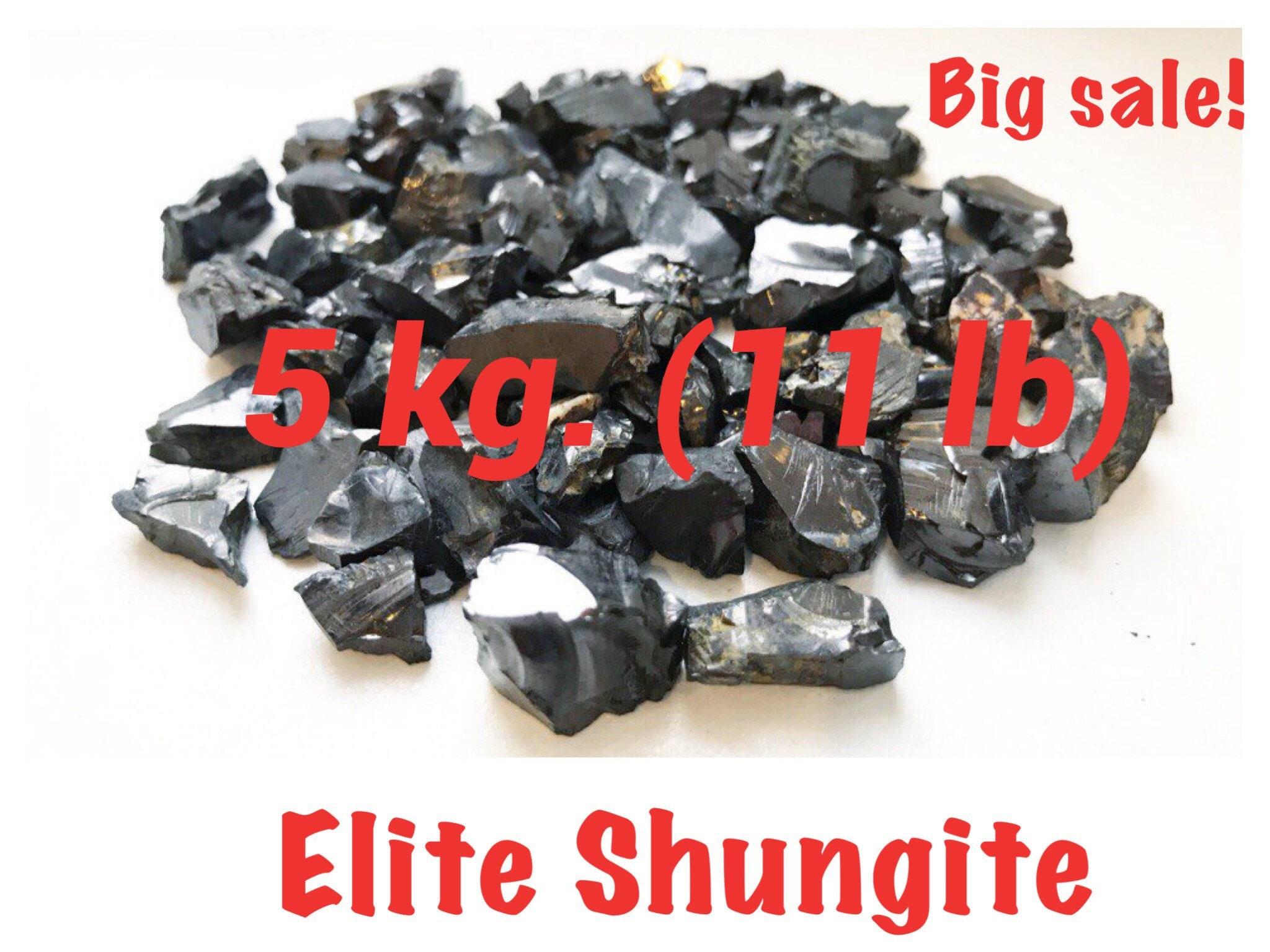 Shungite Elite 5 kg , 5-20 mm  each stones, EMF protection purification  shungite water, detoxification stone gemstones collection