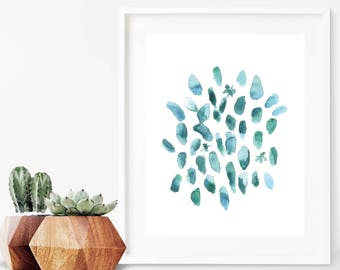 Abstract Watercolor Painting Print, Watercolor Printable Abstract, Modern Watercolor Print, Modern Watercolor Printable, Instant Download