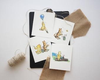Classic Winnie the Pooh Nursery, Classic Winnie the Pooh Prints, Classic Winnie the Pooh Birthday, Classic Winnie the Pooh, Card stock Print