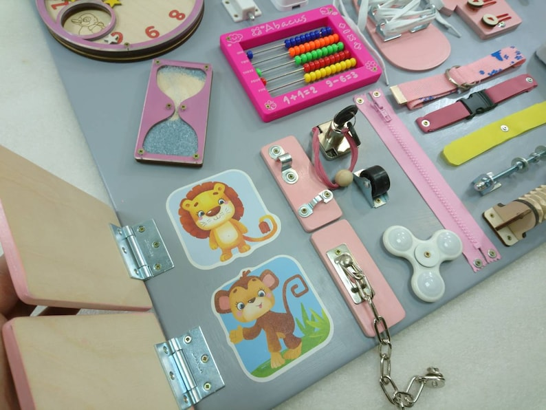 BESTSELLER Busy Board Toddler gift Montessori baby girl ...