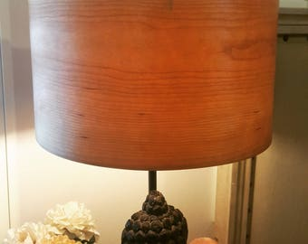 Cabin lamp shade etsy 10 cherry veneer wood lamp shade l wooden lampshade l real wood lampshade to fit any lamp base aloadofball Image collections