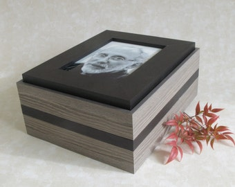Handmade Milan Photo Box for Cremation Ashes