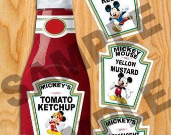Ketchup labels | Etsy