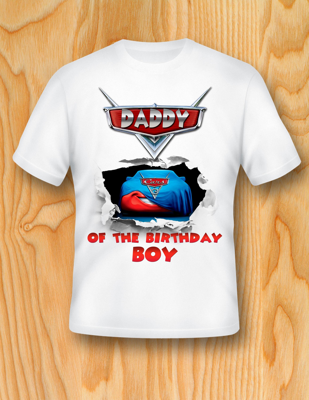 Digital File Cars T Shirt Daddy Of The Birthday Boy