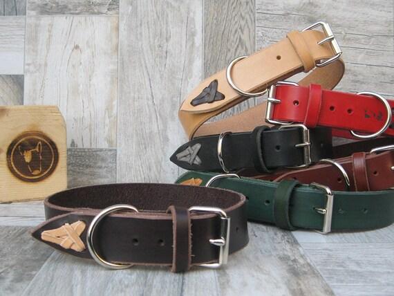 Brown Leather Dog Collar for Medium and Large Sizes, Durable Dog collar, Colorful Dog Collar, Plain Collar, Strong Handmade Dog Collar