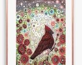 Cardinal Art, Red Bird, B...