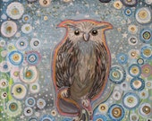 Owl Flower Garden art, fl...
