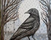 Black Crow Moon Water art...