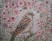 Pink Song Bird Landscape ...
