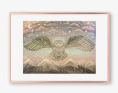Magical Owl painting, owl...