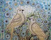 Love Birds floral wall ar...