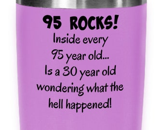 95s Tumbler Happy 95 Year Old 1924 95th Birthday Gift For Women Or Men Mom Dad Wife Husband Mothers Day Fathers Present
