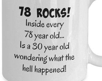 Happy 78 Year Old 1940 78th Birthday Gift Mug For Women Or Men Great Christmas Mothers Day Fathers Present Coffee Tea Cup