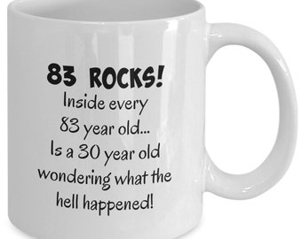 Happy 83 Year Old 1936 83rd Birthday Gift Mug For Women Or Men Great Christmas Mothers Day Fathers Present Coffee Tea Cup