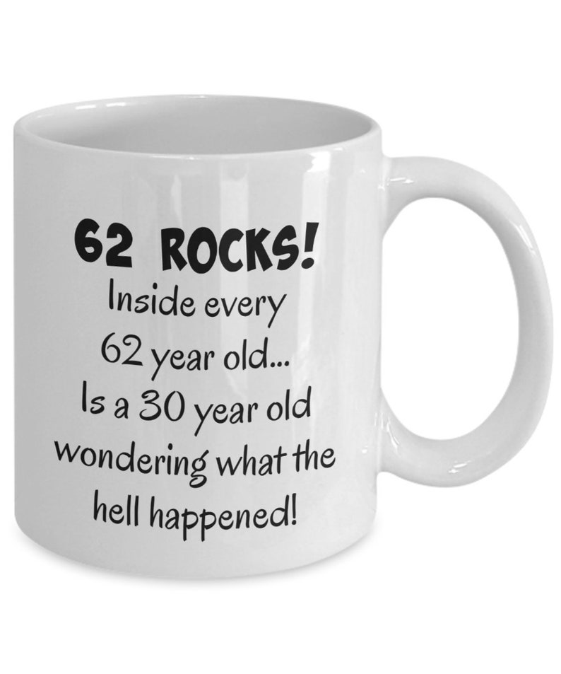 Happy 62 Year Old 1957 62nd Birthday Gift Mug For Women Or