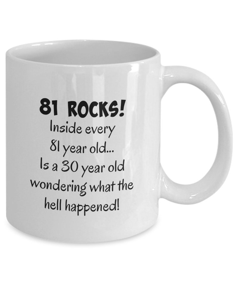 Happy 81 Year Old 1938 81st Birthday Gift Mug For Women Or