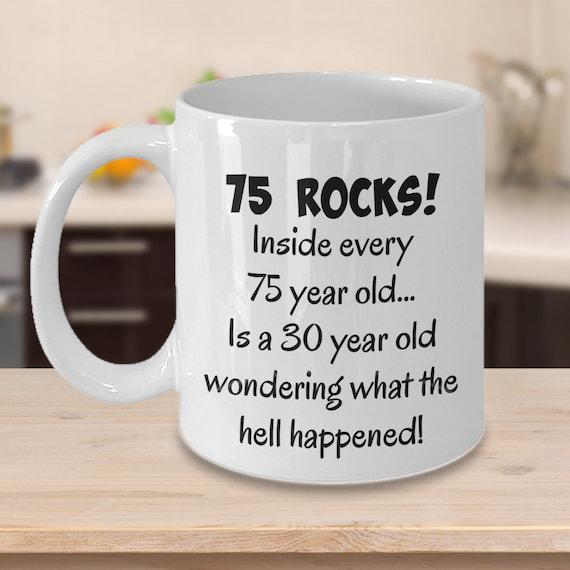 Happy 75 Year Old 1943 75th Birthday Gift Mug For Women Or