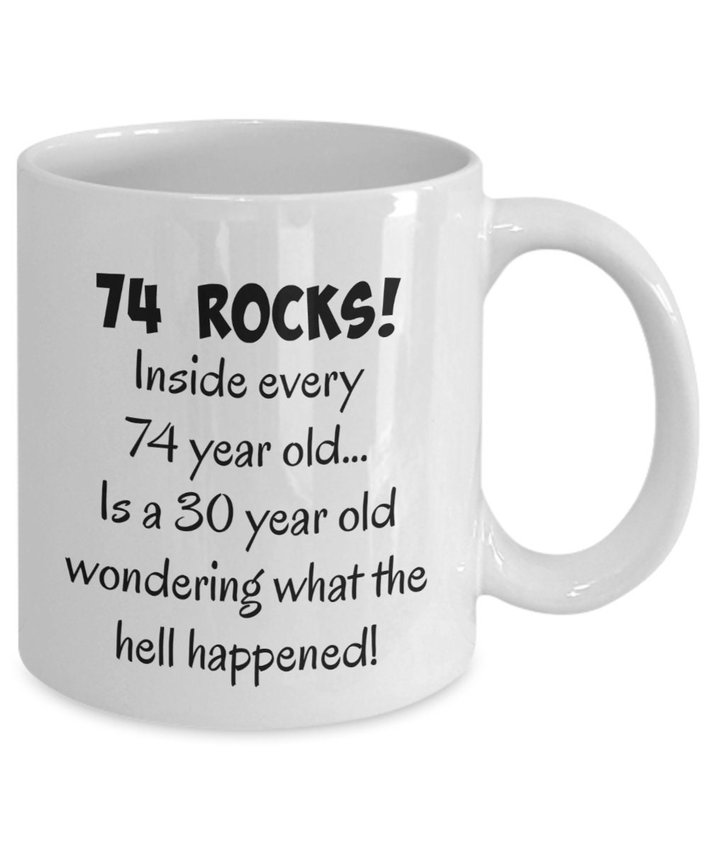 Happy 74 Year Old 1945 74th Birthday Gift Mug For Women Or