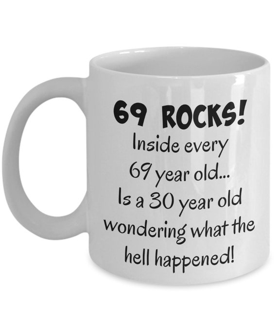 Happy 69 Year Old 1950 69th Birthday Gift Mug For Women Or