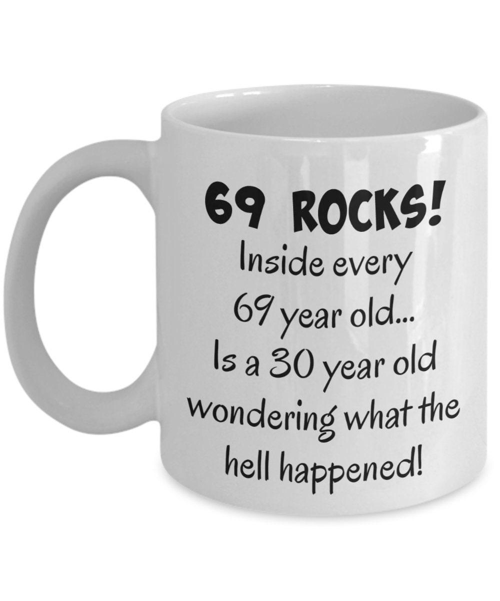 Happy 69 Year Old 1950 69th Birthday Gift Mug For Women Or