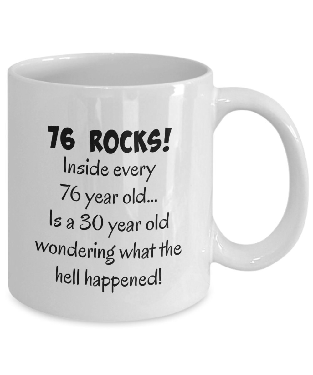 Happy 76 Year Old 1943 76th Birthday Gift Mug For Women Or