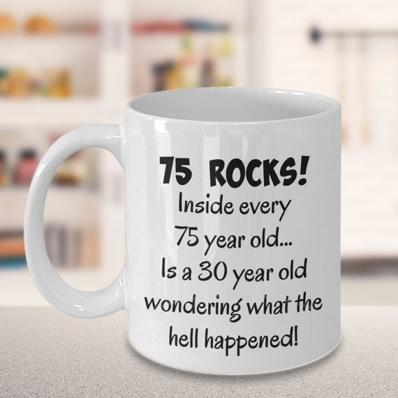 Happy 75 Year Old 1943 75th Birthday Gift Mug For Women Or